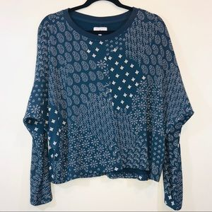 [Nordstrom] Lou & Grey Mixed Print Sweater - #1172